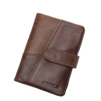 Wholesale Vertical Business Cards - Hot Selling New Fashion Retro Business Leather Vertical Men's Wallet High-quality Luxury Buckle Design Wallet Credit Card Holder Wallet