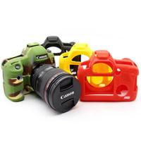 cámara 5d mark iii al por mayor-Cubierta de silicona de alta calidad para Canon 6D / 70D / 77D / 80D / 650D / 700D / 5D Mark III / 5D Mark IV Funda de goma suave para cámara