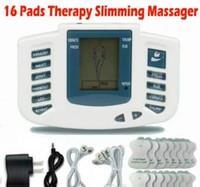 körper abnehmen pulsierende maschine großhandel-Elektrischer Anreger-voller Körper entspannen sich Muskeltherapie-Massager-Massage-Impuls-Akupunktur-Gesundheitswesen, das Maschine 16 Auflagen abnimmt