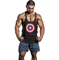 Wholesale gasp bodybuilding - Brand Men 'S Muslce Vest Tank Tops Bodybuilding Fitness Men Cotton Singlets Plus Size O -Neck T Shirt Man Gasp Sleeveless Shirt