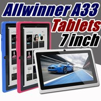 Wholesale tablet pc ram online - 2018 inch Capacitive Allwinner A33 Quad Core Android dual camera Tablet PC GB RAM MB ROM WiFi EPAD Youtube Facebook Google A PB