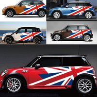 ingrosso stile jack jack-Adesivi per auto Union Jack Car Side Door Side Decal per MINI Cooper Countryman R60 R55 R56 F55 F56 F60 Car Styling Accessories