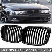 Wholesale bmw series black kidney grills for sale - 2Pcs OEM Style Car Front Black Wide Kidney Grille Grill for BMW E39 series
