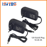 led 3a güç sürücüsü toptan satış-DC12V 1A 2A 3A Güç Kaynağı DC 12 V Adaptörü LED Sürücü LED Şerit Bar Işık AC110-240V için Sürücü Aydınlatma Trafo