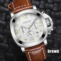 черный мальчик мужские спортивные часы оптовых-Mens Watches  Leather Casual Quartz Boys Watch Men Sport Waterproof Clock Black White Wristwatch Relogio Masculino