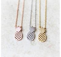 beliebte schmuckdesigner großhandel-Entwerfer-Ananas-hängende Halsketten arbeiten heiße super populäre Kragen-Halskette für Frauen Statementhalsketten Halsreifenschmucksachen N335 um
