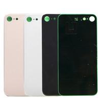iphone back housing оптовых-Для iPhone 8 8 Plus X оригинальный задняя крышка батарейного отсека задняя дверь панель стекло корпус чехол + клей стикер ремонт замена части