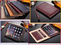 katlanır kitap sehpaları toptan satış-Premium kitap tarzı ped kılıf için iPad Mini 2 3 4 gerçek tam Deri Kılıf Standı 9.7 inç iPad Pro Hava 2 Katlanır Kapakları kabuk
