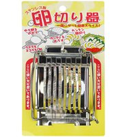 Wholesale metal imports - Egg Slicer Originality Imported Stainless Steel Eggs Splitter For Convenient Applied Cutter Kitchen Tool New Arrival 8 39jd V