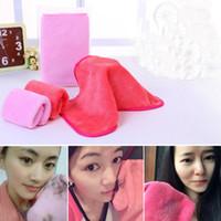 make-up handtuch großhandel-40 * 17 cm 4 farben make-up entferner handtuch natürliche mikrofaser reinigung haut gesicht handtuch gesichts wischtücher waschlappen brauttuch gga251 60 stücke