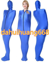 Wholesale mummy cosplay - Blue Lycra Spandex Mummy Suit Costumes Unisex Sleeping Bags Mummy Costumes Outfit With internal Arm Sleeves Halloween Cosplay Costumes DH112
