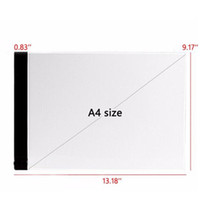 Wholesale Impressionist Drawings - Ultrathin 3.5mm A4 LED Light Box Stencil Touch Board Drawing Copy Board Animation Tracing Pad Without Radiation EU UK AU US USB