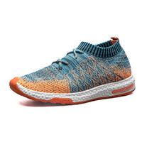 Wholesale Polka Dot Knit Fabric - Men's knit breathable sock casual shoes soft and comfortable breathable sports outdoor sneakers jogging training running shoes