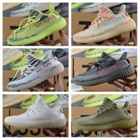 Wholesale Copper Tables - 2018 350 V2 Boost Beluga 2.0 Cream White Copper Black Red Core Red Bred Zebra Black White Olive Green Kanye West Running Shoes With Box