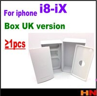 Wholesale Empty Packaging Box - 1pcs Best Quality UK Version Empty Phone Package Packing Box Case For iPhone X 8 8P Without Accessories phone box