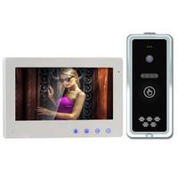 draht-gegensprechanlage großhandel-4-Wire 800TVL 7 Zoll Video-Türsprechanlage Türklingel Intercom System HD Kamera Nachtsicht Unlock Rain