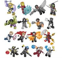 Wholesale Marvel building blocks Sets Avengers Infinity War Mini Super Hero Superhero Thor Hulk Captain America Figures Building Blocks Toys