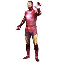 ingrosso costumi da supereroe del capretto di zentai-Halloween Purim Adult Kids Iron Man 3 Costumi Patriot Spandex Anime Supereroe Costume Cosplay Zentai Tute Tuta