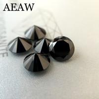 муассанит блестящий оптовых-Круглый бриллиант вырезать 0.5 карат 5 мм черный муассанит свободный камень VVS1 отлично вырезать класса тест положительный лаборатории Алмаз