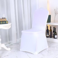 Wholesale universal cover chair - Wedding Party Banquet Chair Covers Universal Spandex Fitted Folding Multi Color Wholesale High Quality Durable NNA153