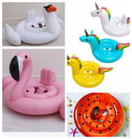 Wholesale inflatable infant swim ring for sale - Group buy kids Inflatable Float Seat Water Toy Pool Swimming Ring Infant Unicorn Flamingo watermelon swan Pool Float Seat KKA4496