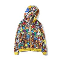 Wholesale cartton animals for sale - Group buy Men s Cartton Print Camo Zipper Hooded Hoodies Letter Teenager Cotton Camo Hip Hop Sweatshirts Coats Plus Sizes S XL