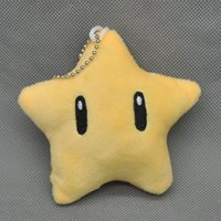 Wholesale New CM Super Mario Bros Star Plush Doll Pendant