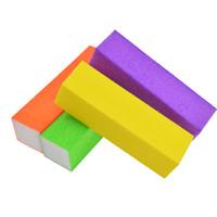 желтые файлы оптовых-пилка 4шт / серия пилочка Полировочной Красочной наждачная бумага Губка оранжевых / желтый / фиолетовый / зеленый Полировка шлифовального инструмента Manicure TR16