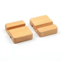 Wholesale wood flooring types for sale - 100pcs Beech Wood Phone Stand Holder For iPhone s Plus Mobile Phone Stand Universal Wooden Stand Holder For iPhone s SN1351
