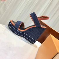 cunha calcanhar de 12cm venda por atacado-China atacado top quality Luxo moda sexy mulheres ladys lados designer plataforma de verão ao ar livre sandálias de salto alto 12 cm