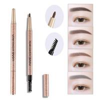 Wholesale stencil pencils - NOVO Brow Makeup Set Eyebrow Pen + Refill + Eyebrow Stencils 4 Color Optional Long Lasting Eye Brow Pencil Wholesale 2801071