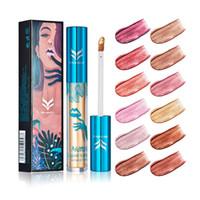 Wholesale glitter lip gloss online - HUAMIANLI Color Shimmer Liquid Lip Gloss Matte Batom Makeup Metallic Lipstick Long Lasting Lips Moisturizer Glitter Lipgloss