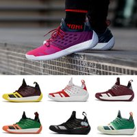 Wholesale light weight cotton fabric - 2018 Hot Sale Harden Vol.2 Multicolor Black White Gold Mens Basketball Shoes Cheap Top quality harden 2 2s Light weight Sport Sneakers 40-46
