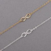 sonsuz sayı toptan satış-Kristal Taşlı Bileklik Infinity Sonsuzluk Zinciri Bilezikli Kadın Bileklik