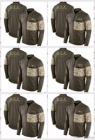 ingrosso giacca di brunetta xxl-Chicago Bears Cincinnati Bengals Cleveland Browns Denver Broncos Detroit Packers Salute al servizio Giacca ibrida Sideline Hybrid