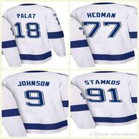2018 Tampa Bay Lightning Hockey Jersey 5 Dan Girardi 14 Chris Kunitz  Matthew Peca Ondrej Palat Ryan Callahan 9 Johnson Hockey Wear White 3ad21abda