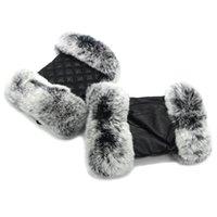 guantes de medio dedo calientes al por mayor-JKP nuevas mujeres verdadero piel de oveja piel de oveja guantes de medio dedo de las señoras de la moda de invierno cálida auténtica guantes de piel de oveja ST18-08