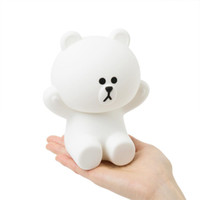 Wholesale touch lamps for kids - Creative Bear Rabbit LED Night Light For Children Baby Kids Multicolor Silicone Bedside Lamp Touch Sensor Tap Control Night Lamp