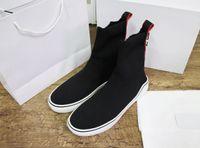 calcetines de lana de alta calidad de los hombres al por mayor-Nueva moda mujer diseñador calcetines zapatos para hombre de lana de alta superior triples mejor calidad de lujo zapatillas de cuero genuino blanco tamaño 35-46