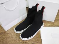 yüksek kaliteli yün çorap erkek toptan satış-Yeni moda kadınlar için tasarımcı çorap ayakkabı adam yün yüksek top üçlüler en kaliteli lüks sneakers hakiki deri beyaz b ...