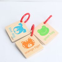 Wholesale learning baby books - 2018 Newest Cute Wooden Puzzle 0-6 Baby Child Kindergarten Early Learning Cognitive Development Visual Development Book