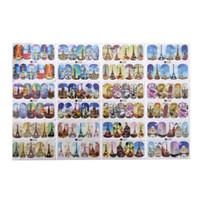 модели ногтей оптовых-12/50pcs Nail Sticker Mixed Patterns Colorful Designs Women  Water Transfer Nail Tips DIY Manicure Decor Nail Art Decals