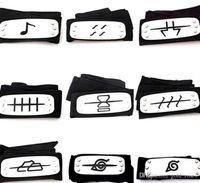 Wholesale naruto headband cosplay for sale - PrettyBaby ANIME Naruto Headband cm Leaf Village Logo Konoha Kakashi Akatsuki Members Cosplay Costume Accessories blue red black in stock