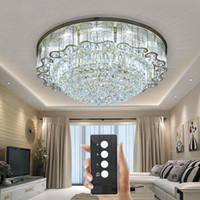 krake deckenleuchte großhandel-3 helligkeit kristall leuchten wohnzimmer lampe deckenleuchten Gold kristall deckenleuchte LED schlafzimmer restaurant beleuchtung mit fernbedienung