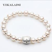 2938ef359 Wholesale hello bracelets for sale - YIKALAISI Charm Bracelet Pearl Jewelry Hello  Kitty Bracelet Natural Freshwater
