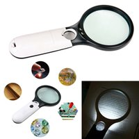 Wholesale jewelry light magnifier online - Scope magnifier LED Light X Magnifying Glass Lens Handheld Mini Pocket Microscope Reading Jewelry GGA681