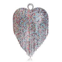 ingrosso borse da sposa strass-L'ultimo cuore nappa strass donne frizioni anello di barretta di cristallo catena spalla borse per la festa nuziale borsa da sposa