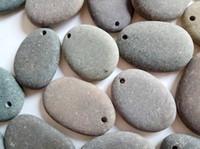 stanzen kunsthandwerk großhandel-6 Arten von Einzelbohrungen mit Doppelbohrung zum Malen von flachem Strandkunsthandwerk Rock River Rock Punch Schmuckherstellung von flachen Flachanhängern