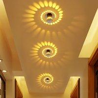 galerías de techo de luz al por mayor-Moderno LED de luz de techo 3W RGB aplique de pared para galería de arte decoración balcón frontal lámpara porche corredores de luz accesorio de la luz