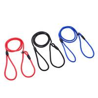 led dog collar großhandel-Außerhalb des Morgens Run Classic Einstellbare Traktion Kragen Training Hundeleine Slip Bleiband Nylon Walking Rope